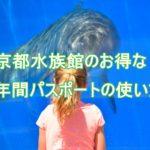 京都水族館に年パスはある??お得な年間パスポートの使い方!!